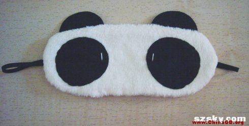 教你DIY害羞熊猫v眼罩眼罩_ChinaGB国家标准升官图图纸图片